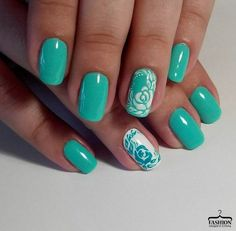 Accurate nails, Air nails, June nails, Landscape nails, Mint green nails, Mint nails, Nails trends 2016, Natural nails