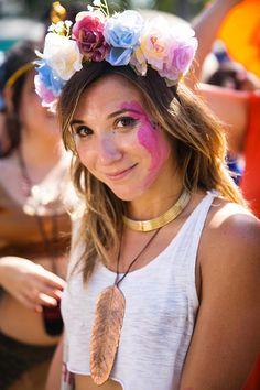 looks de carnaval coroa de flores