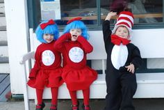 Cat in the Hat #costume #Halloween #Thing 1 Thing 2 #Seuss