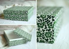 Fabric shoebox first attempt ! Shoe Box, Decorative Boxes, Fabric, Home Decor, Tejido, Tela, Decoration Home, Room Decor, Cloths