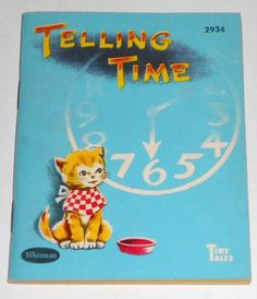 ''Telling Time''  illustrated by Alison Cummings. Published by Whitman 1942 & 1949 | eBay