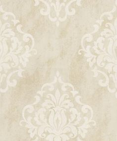 Marble Damask (20086) - Albany Wallpapers - A grand scale damask, shown on a complimenting marble background. Shown here in metallic cream and white. Other colourways are available. Please request a sample for a true colour match. Paste-the-wall product.