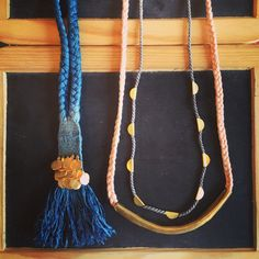 Takara was created by Portland, OR based designer, Jen Goff. Light, soft, and oh, so now, we're loving these woven silk necklaces. The silk is dyed with natural plant-based dyes and finished with hammered brass. Get 'em while they're hot! #newshipment #brass #wovensilk #plantbaseddye #natural #summerstyle #jewelry #forsale