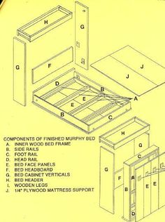 DIY Murphy Bed Plans | DIY Do It Yourself Murphy Bed Plans PDF Plans Download