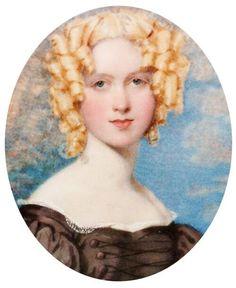 Tumblrのタイムライン上にあった肖像画にドキッとした。「星の時計のLiddell」1巻の表紙絵かと思った。金の巻髪、黒衣装、背景の空と雲とか雰囲気が近いわー。Octavius Oakley(1800-1867)英国の水彩画家。