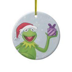Holiday Kermit Christmas Ornament