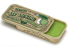 Lip Licking Lip Balm Vintage Tin Slider Green Apple *** Check out this great product. (This is an affiliate link) #lips