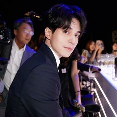 """his gaze. 🙈 Can't get enough of all those gorgeous pics of our """"Boy de Chanel"""" 😌 Cr:… Actors Male, Asian Actors, Korean Actors, Actors & Actresses, Lee Dong Wook Goblin, Lee Dong Wok, Lee Dong Wook Wallpaper, Kdrama, Gumiho"""