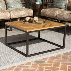 Havenside Home Brosnan Contemporary Black/ Natural Wood Outdoor Coffee Table, Patio Furniture (Acacia) Modern Outdoor Coffee Tables, Modern Outdoor Living, Solid Wood Coffee Table, Rustic Coffee Tables, Outdoor Lounge, Outdoor Spaces, Indoor Outdoor, Coffee Table Wayfair, Simple Furniture