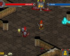 "Attack enemies in this isometric dungeon battler that feels like the game ""Diablo""."