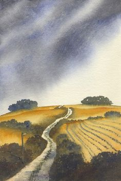 Ian Scott Massie Artist Masham Yorkshire home page Watercolor Art Lessons, Watercolor Projects, Watercolor Landscape Paintings, Watercolor Techniques, Nature Paintings, Love Painting, Pilgrimage, Watercolor Illustration, Photo Art
