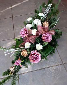 Kompozycja na grób Memorial Day, Funeral, Floral Wreath, Wreaths, Flowers, Decor, Creative Flower Arrangements, Church Flower Arrangements, Fake Flower Arrangements
