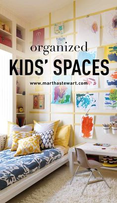 Organize Kids' Spaces | Martha Stewart Living - Our tips and creative ideas will help you organize your kids' spaces, toys, artwork, and more.
