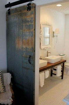 Sliding barn doors!