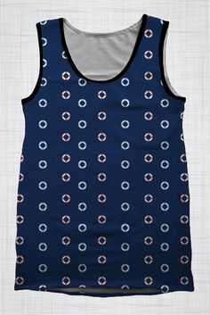 Plus Size Men's Clothing Life Rings singlet