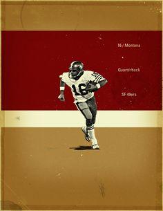 NFL Greats by Jon Rogers, via Behance