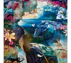 Deep Calls to Deep - 16-year-old artist Dimitra Milan grew up surrounded by art and has since worked to cultivate her own unique style. Four years ago, she began painting when her parents opened Arizona's Milan Art Institute, allowing her to take any class that caught her attention. From classical oil techniques to cont...