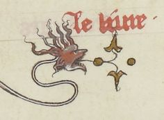 Long-necked Dragon. Guiard des Moulins, Bible Historiale de Jean de Berry .  Source: gallica.bnf.fr    Bibliothèque nationale de France, Département des Manuscrits, Français 20090, fol. 117r.