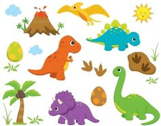 Ideas for a Natural African Safari Theme Party ⋆ The Impala Collection Die Dinos Baby, Baby Dinosaurs, Cute Dinosaur, The Good Dinosaur, Dinosaur Birthday Party, Boy Birthday, Birthday Clipart, Happy 1st Birthdays, Felt Animals