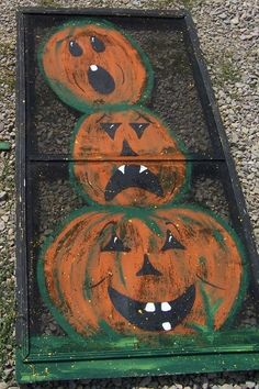 Halloween Pumpkin Window Screen