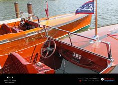 """Two of five 33′ Liberty V-12 powered Baby Gars at Gull Lake – """"Cicada"""" 1928 and """"Sea Wolf"""" 1927 from the Lee Anderson collection. – Dane Anderso"""