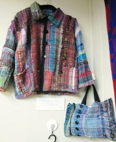 Love, love, love this jacket. Must add to list of things to weave! From Saori Yokohama.