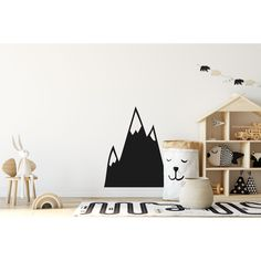 Mountain Shadow Wall Sticker Boys Wall Stickers, Wall Stickers Quotes, Wall Decals, Personalized Wall Art, Britain, Colours, Shapes, Amazing, Interior