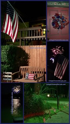 #Lakeside Living ... #4th of July #fireworks #flag #decorations