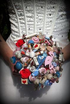 Button Bouquet - Alice In Wonderland £125.00