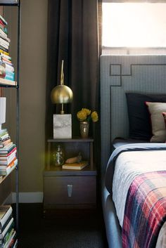 Layer for depth when you're decorating a small bedroom space.