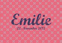 Geburtskarte / Faire-part de naissance «Pattern Rose» #cardswithlove
