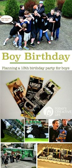 Birthday Party Planning for Boys | Here's what I did for my son when he turned 13! Easy DIY Screen Print T-shirts, Modern Warfare and the game truck! It was a hit! See more on Today's Creative LIfe: