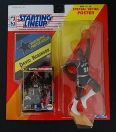 1992 Starting Lineup David Robinson Warm Up San Antonio Spurs Basketball Figure Nba Action Figures, San Antonio Spurs Basketball, Theme Sport, David Robinson, Baseball League, Poster Series, Sports Basketball, Lineup, Warm