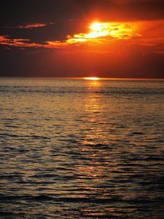 Sunset on Hunstanton Beach