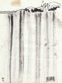 Landscape indian ink drawing