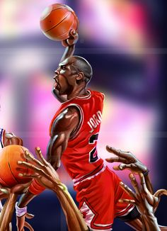 It's one thing to paint a picture, and for people to relate to the artistic vision. On the other hand, we have a modern day Picasso i. Michael Jordan Art, Michael Jordan Basketball, Jordan 23, Jordan Logo, Nba Lebron James, Curry Nba, Nba Video, Nba Funny, Nba Fashion