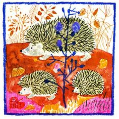 ¤ Animalarium: Hungarian Fantasy 'Des mots pour les animaux'. Poèmes de Pierre Gamarra, Images de Karoly Reich. Editions la Farandole 1974. Nice hedgehogs ;-)  hérissons