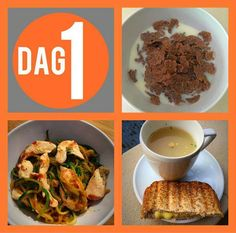 Dag 1 Gluten Free Recipes, Diet Recipes, Healthy Recipes, Healthy Meals, 28 Dae Dieet, Dieet Plan, My Diet Plan, 28 Days, Health Eating