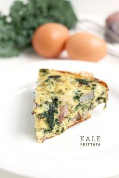 Kale Frittata - Delicious! Made it for dinner with sweet potatoes, & added garlic in with the onions.