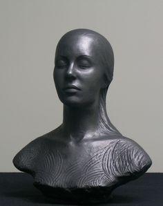 """Black dream"" ceramic sculpture by Joanna Mozdzen"