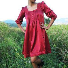 "Because a silk dress always screams ""field attire"" to me too. I still want it."