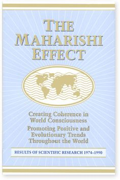 Paperback, 91 pages This book summarizes clearly all the research conducted since 1974 on the Maharishi Effect - the effect of Maharishi's Transcendental Meditation and TM-Sidhi programme on society and the environment. Here is proof to convince even the most sceptical that it is possible to create an enlightened society. Price: $12.50 Click here for more info on creating Invincibility for your nation & peace for the world: http://globalmotherdivine.org/world_peace/overview.html