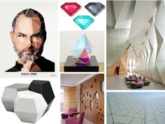 faceted interior moodboards