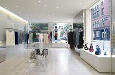 'pleats please' for issey miyake by clouds architecture office, soho, new york