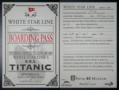 Titanic boarding pass activityfree facebook file in preview inside the titanic 1st class rms titanic the phantom of the deep sea pronofoot35fo Images