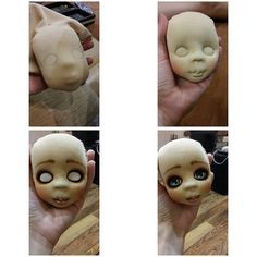 Cloth doll face painting inspiration.  Awesome!  Visit the artist at http://livetoys.blogspot.com/