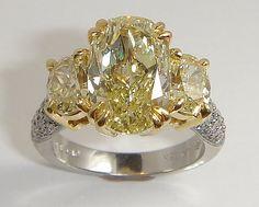 Stuart Benjamin & Co. Jewelry Designs - San Diego, CA, United States. 3 stone Fancy Yellow Diamond Ring