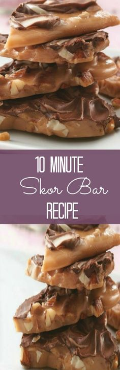 10 Minute Skor Bar Brittle Recipe via Simple and Savoury Mom's SMART Home - The BEST Christmas Cookies, Fudge, Candy, Barks and Brittles Recipes - Favorites for Holiday Treats Gift Plates and Goodies Bags!