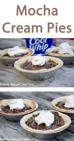 Mocha Cream Pies recipe with #COOLWHIP via @bubblynature