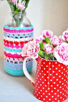 Tampa do frasco fazer Crochet Bonita Inspiração e Padrões